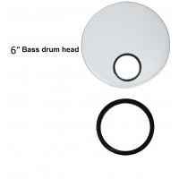 "Eclipse CXD084N Hole Black 6"" Bass Drum"