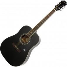 Epiphone DR-100 Ebony Ch Hdwe Ebony Chrome Akustična gitara