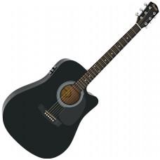 Squier By Fender SA-105CE BK Akustična Ozvučena gitara