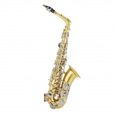 Firefeel W014 Alt Saksofon Gold Lacquer Body Nickel Plated Keys