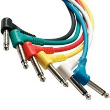 Power Dynamics PD Connex Patch cable 6pcs- 0,5m color OFC Mono