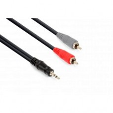 Vonyx 3.5mm Stereo-2x RCA Male Audio kabl 6m