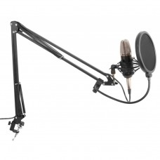 Studio Set - Kondezatorski Mikrofon, stalak i Pop Filter