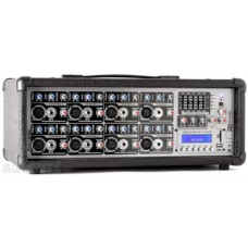 Power Dynamics PDM-C808A 8-Channel Mixer with Amplifier