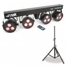 Compact Light Set -LED PARBAR 4 Max Led T Bar